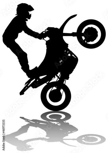 Poster Motocyclette Extreme man on moto