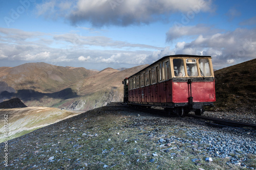 Fotografia Views from Snowdon the highest mountain in England and Wales