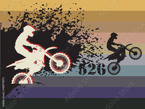 Printed kitchen splashbacks Motocross race background, vector illustration