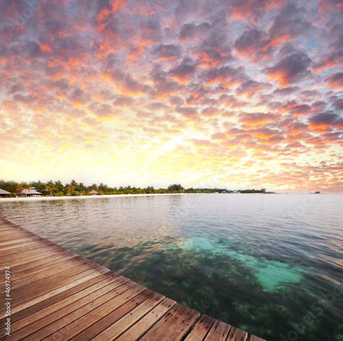 Foto op Plexiglas Caraïben Maldives