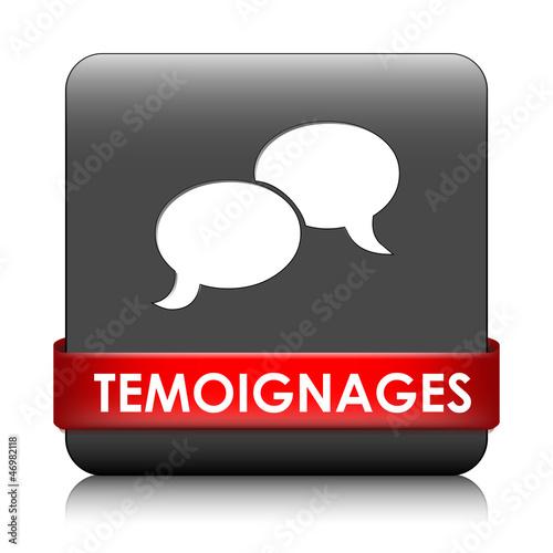 """Fotografía  Bouton Web """"TEMOIGNAGES"""" (forum service clients opinions avis)"""