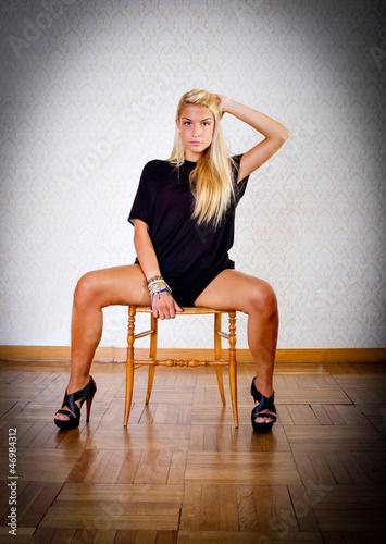 Sexy blonde legs