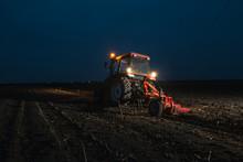 Plowing At Night