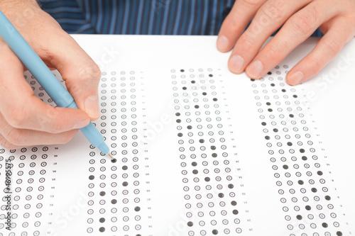 Fotografía Student test (exam)