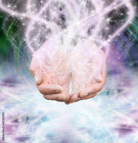 Doppelrollo mit Motiv - Cosmic Energy (von Nikki Zalewski)