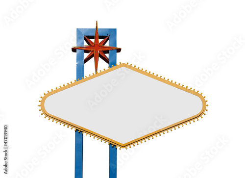 Poster  Las Vegas Sign Isolated With All Text Removed