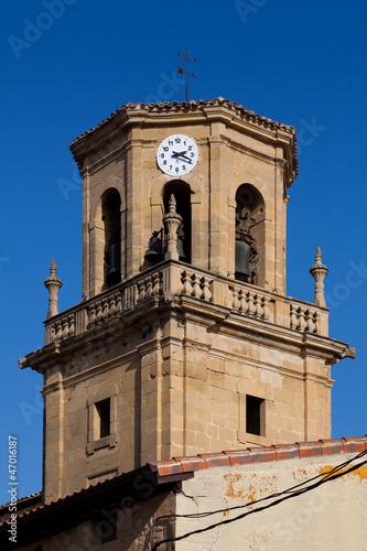 Bell tower of Sajazarra, La Rioja, Spain