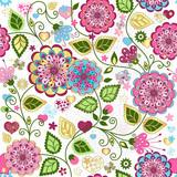 Seamless valentine colorful pattern