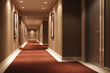 canvas print picture - Hotel Walkway