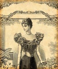 Fototapeta na wymiar Femme en tenue de soirée