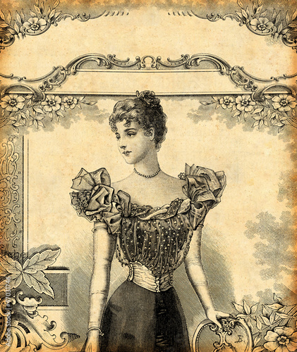 Obrazy na płótnie Canvas Femme en tenue de soirée