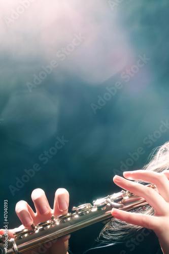 Canvas Prints Music Flute music flutist hands