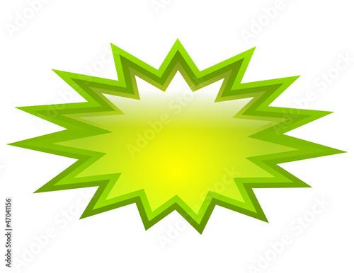 Obraz Vector green splash - fototapety do salonu