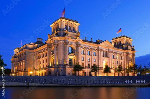 Keuken foto achterwand Palermo reichstag berlin night