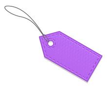 Blank Purple Sale Tag