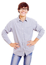 Young Man With Arms Akimbo