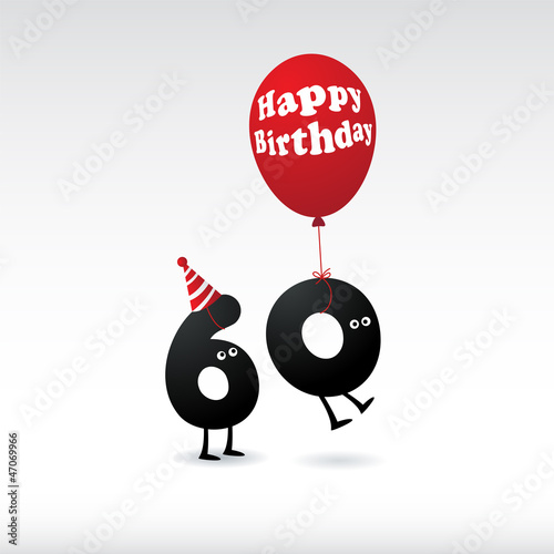 Photographie  Funny Birthday card. Vector.