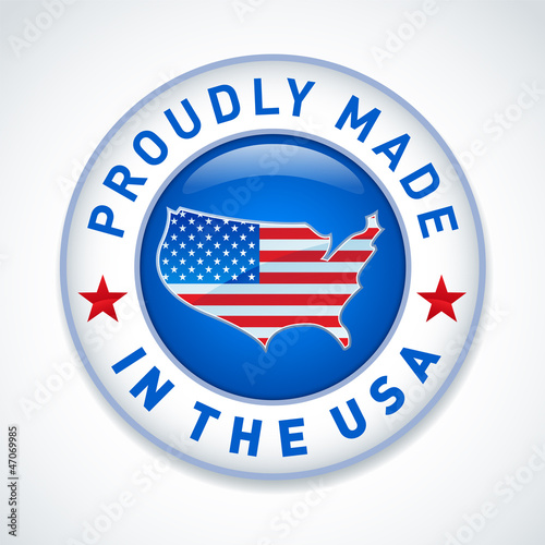 Made in the USA label. Vector. Poster