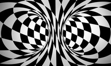Abstract Black And White 3d Ba...