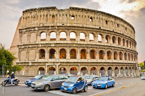 The ancient Colosseum in Rome Canvas Print