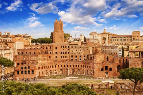Photo Ancient Ruins of Imperial Forum in Rome, via dei Fori Imperiali
