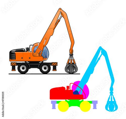 Fotografija  excavator