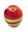 Rodajas de manzana roja y verde.
