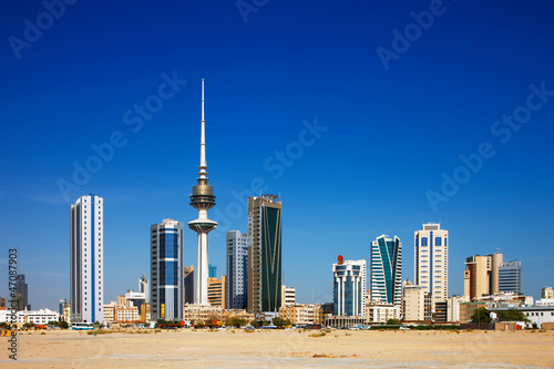 Fotobehang Midden Oosten Kuwait City has embraced contemporary architecture