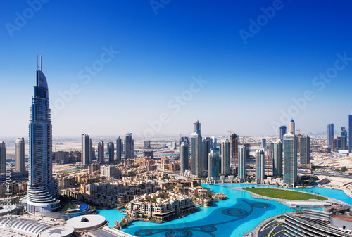 DOWNTOWN DUBAI is one of the most popular parts of Dubai Canvas Print