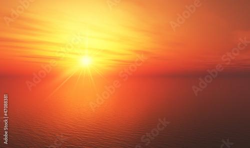 Foto-Leinwand - Hot Sunset background 11
