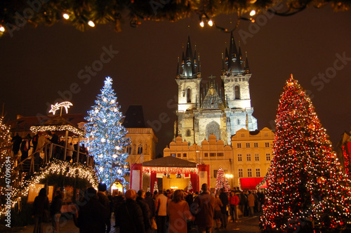 Printed kitchen splashbacks Prague Christmas in Old-town square (Staromestske namesti), Prague