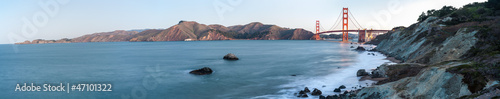 Fotobehang San Francisco Panorama of Golden Gate Bridge, San Francisco