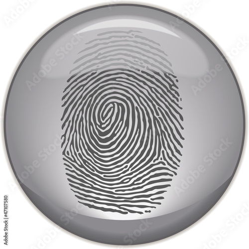 Photo Fingerabdruck auf Button