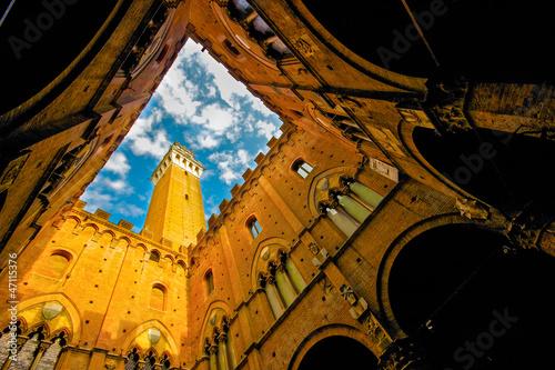 Siena, Palazzo Pubblico dall'interno Tapéta, Fotótapéta