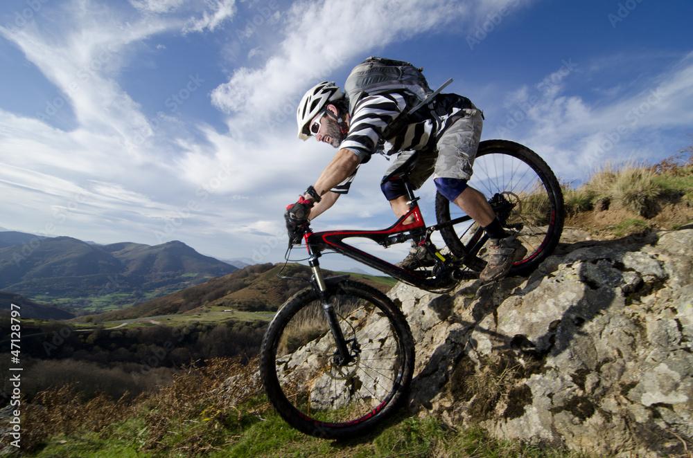 Fototapety, obrazy: Rider in action