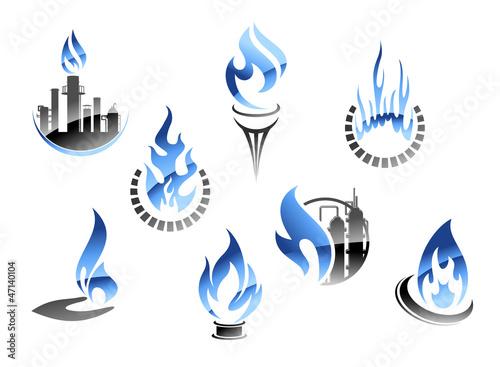 Fotografía  Gas and oil industry symbols