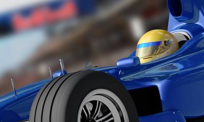 Fototapeta Formuła 1 racewinner closeup
