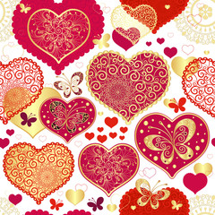 Fototapeta na wymiar Seamless valentine pattern
