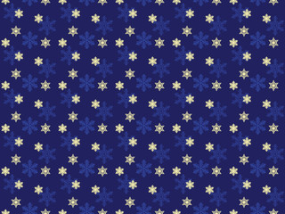 blue seamless Christmas background with snowflakes