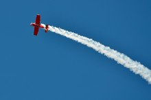 The Plane On The Blue Sky During Air Show