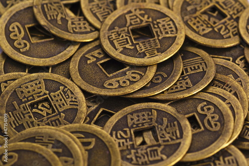 Photo  china coins