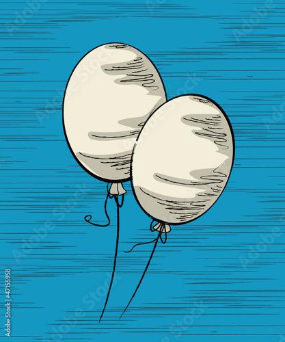 Białe balony