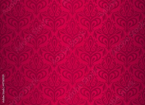 red  vintage wallpaper design