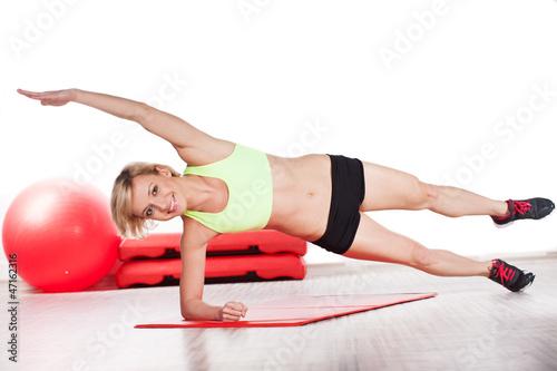 Plakat Kobieta na siłowni