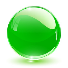 3D Crystal Sphere Green