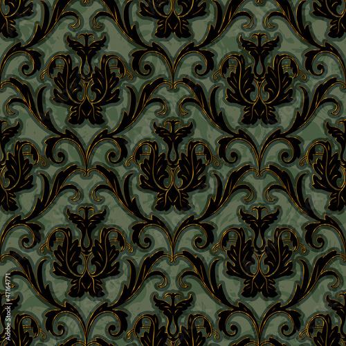 Fotografía  seamless floral damask pattern background
