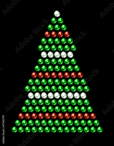 sapin de Noël guirlandes rouge et blanc – kaufen Sie dieses Foto und ...