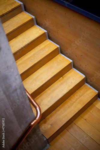Escaliers, intérieur, maison, bois, architecture, immobilier ...