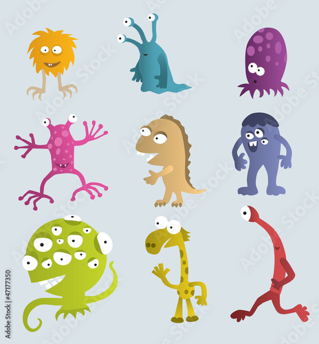 Garden Poster Creatures Funny Creatures from another Planets