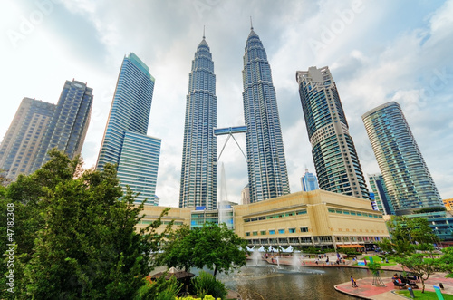 Poster Kuala Lumpur Downtown of Kuala Lumpur in KLCC district